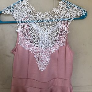 Lacy baby pink top